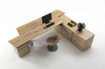 Bureau en bois / contemporain / professionnel