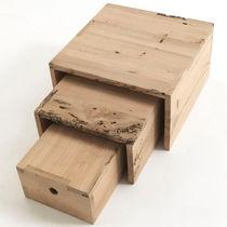 Table gigogne contemporaine / en bois / carrée / par Piero Lissoni