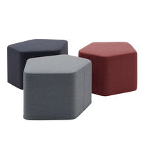 Pouf contemporain / en tissu / noir / gris