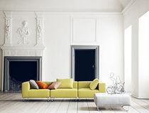 Canapé modulable / contemporain / en tissu / 3 places
