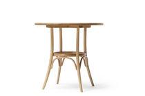 Table classique / en bois massif / en hêtre / en bois courbé
