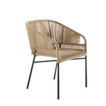 Chaise contemporaine / avec accoudoirs / en tissu / en fibres synthétiques