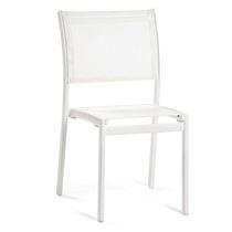 Chaise de jardin contemporaine / en aluminium / en Batyline® / blanche