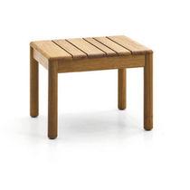 Table d'appoint contemporaine / en teck / carrée / de jardin