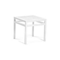 Table d'appoint contemporaine / en polyéthylène / en HPL / en aluminium