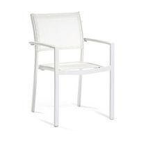 Chaise de jardin contemporaine / avec accoudoirs / en aluminium / en Batyline®