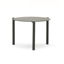 Table basse contemporaine / en aluminium / ronde / de jardin