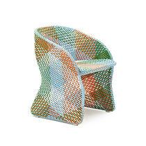 Chaise de jardin contemporaine / avec accoudoirs / en aluminium / en fibres synthétiques