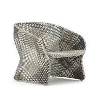 Fauteuil contemporain / en aluminium / en fibres synthétiques / contract