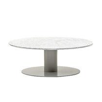 Table basse contemporaine / en métal / en HPL / ronde