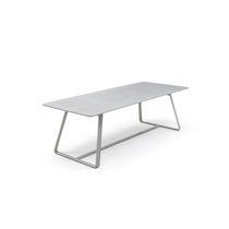 Table à manger contemporaine / en acier / en HPL / en ciment