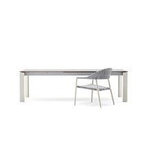 Table à manger contemporaine / en métal peint / en HPL / rectangulaire