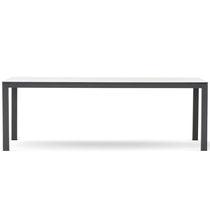 Table à manger contemporaine / en aluminium peint / en HPL / rectangulaire