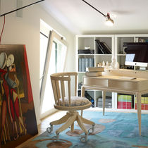 Chaise de bureau contemporaine / à roulettes / tapissée / piètement étoile