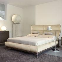 Lit double / classique / avec tête de lit tapissée / tapissé
