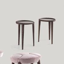 Table d'appoint classique / en bois / en verre / ronde