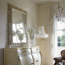 Miroir mural / de style / carré / en bois