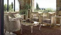 Canapé de style / en noyer / en tissu / 2 places