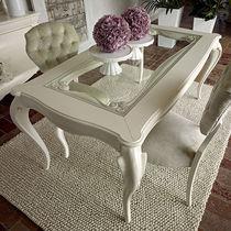 Table de style / en verre / en bois laqué / rectangulaire