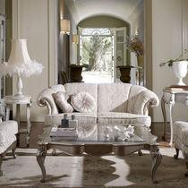 Canapé de style / en tissu / 2 places / beige
