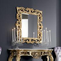 Miroir mural / de style / rectangulaire / en bois