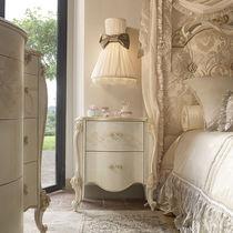 Table de chevet de style / en bois laqué / rectangulaire / blanche