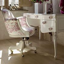 Fauteuil de bureau de style / en bois / en tissu / pour fille