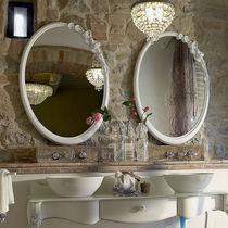 Miroir mural / de style / ovale / de salle de bain