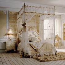 Lit à baldaquin / simple / de style / avec tête de lit tapissée