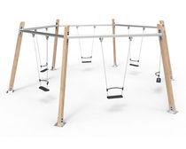 Balançoire en bois / en acier / pour parc de jeux / multiple