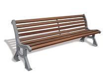 Banc public / classique / en bois / en fer