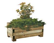Jardinière en bois / carrée / contemporaine / pour espace public