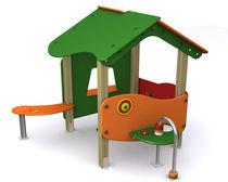 Structure de jeu en bois / en HPL / pour aire de jeux