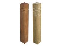 Borne de protection / en bois / amovible / haute