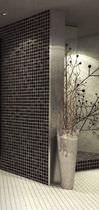 Mosaïque d'intérieur / murale / en verre / texturée