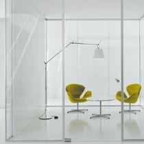 Cloison amovible / vitrée / à double vitrage / de bureau