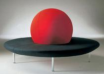 Banquette contemporaine / en tissu / ronde / rouge