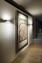 Applique murale contemporaine / en verre / en acier / halogène