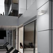 Applique murale contemporaine / d'extérieur / en verre / en aluminium