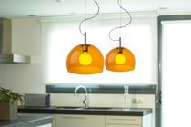 Lampe suspension / contemporaine / en acier / en méthacrylate