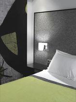 Applique murale contemporaine / en tissu / en acier / à LED
