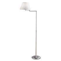 Lampe sur pied / contemporaine / en tissu / en laiton