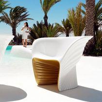 Fauteuil design organique / en polyéthylène rotomoulé / par Ross Lovegrove / de jardin
