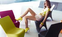 Chaise design original / 100% recyclable / en polyéthylène / par Karim Rashid