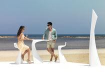 Chaise de bar contemporaine / 100% recyclable / en polyéthylène / d'extérieur
