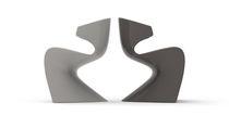 Chaise de jardin design original / 100% recyclable / en polyéthylène