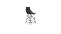 Chaise de bar contemporaine / en acier inoxydable / d'extérieur