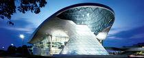 Panneau de construction / en verre / pour façade