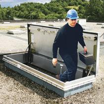 Trappe de visite de toit / rectangulaire / avec échelle / en aluminium