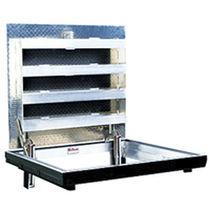 Trappe d'accès pour sol / carrée / avec drainage de l'eau / en aluminium